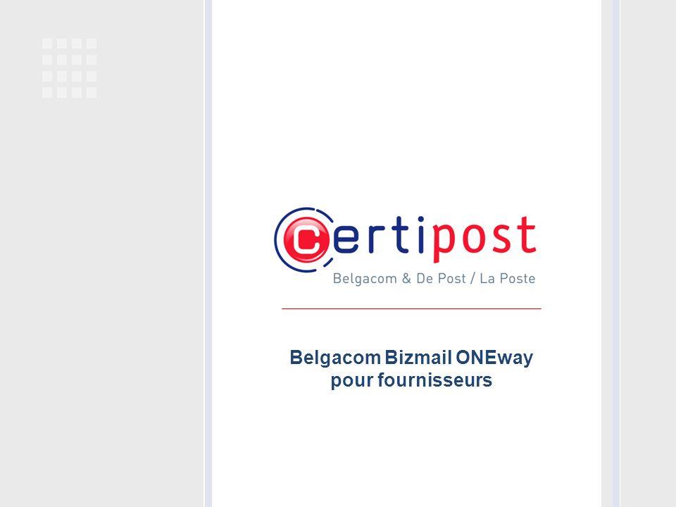 Belgacom Bizmail ONEway pour fournisseurs