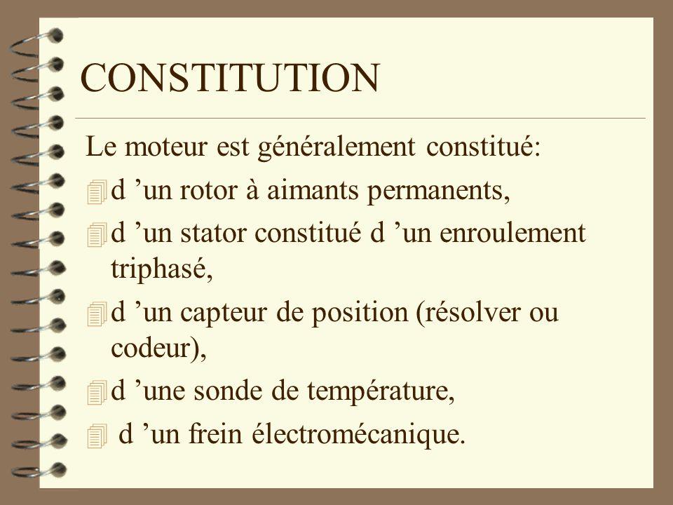 CONSTITUTION Le moteur est généralement constitué: