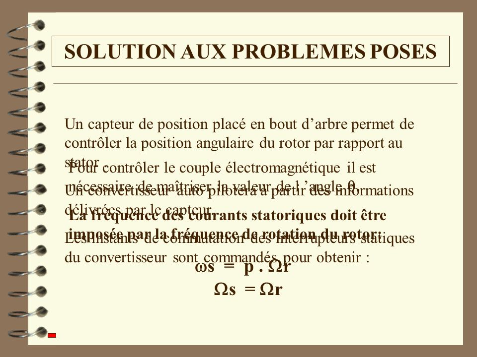 SOLUTION AUX PROBLEMES POSES