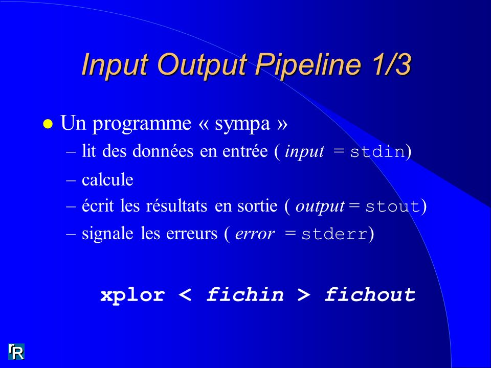 Input Output Pipeline 1/3