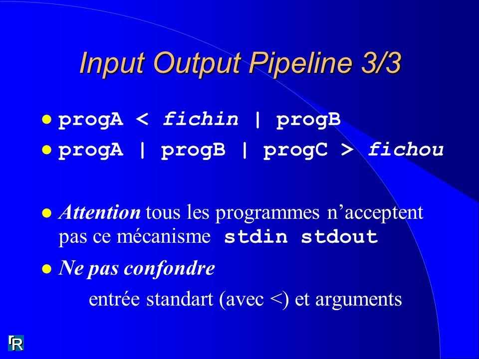 Input Output Pipeline 3/3