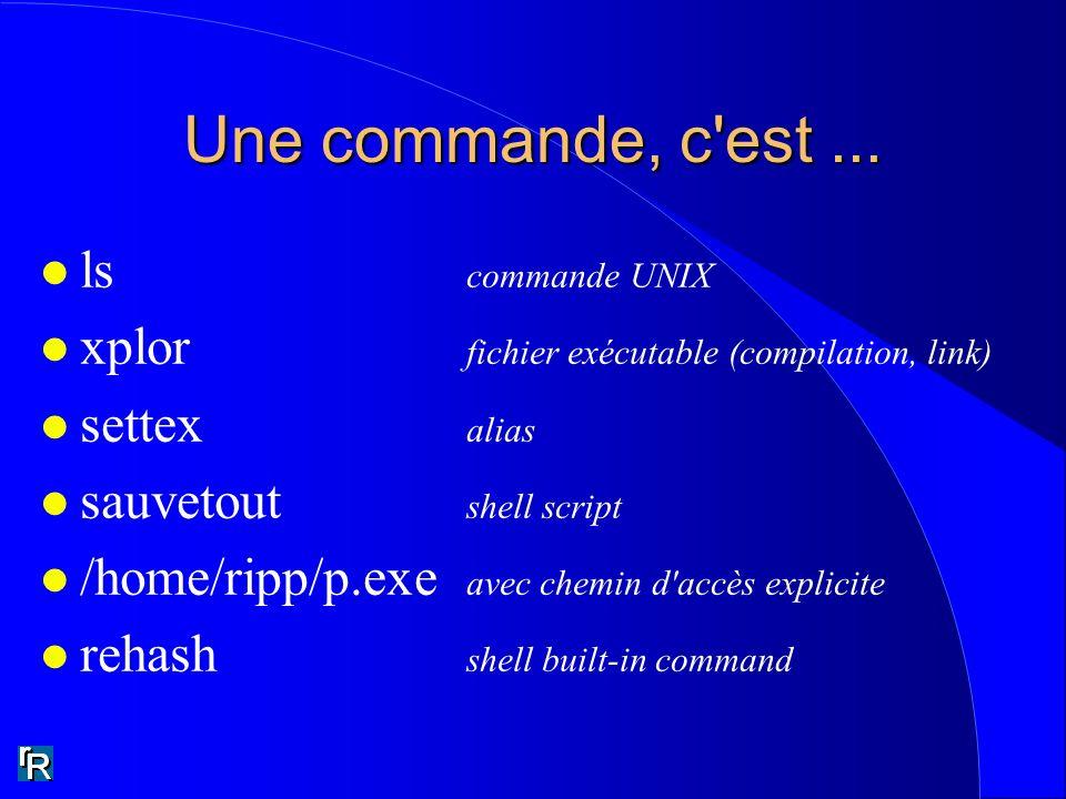 Une commande, c est ... ls commande UNIX