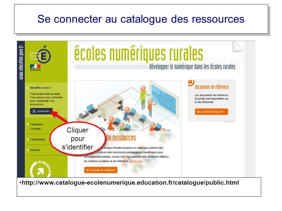 Se connecter au catalogue des ressources