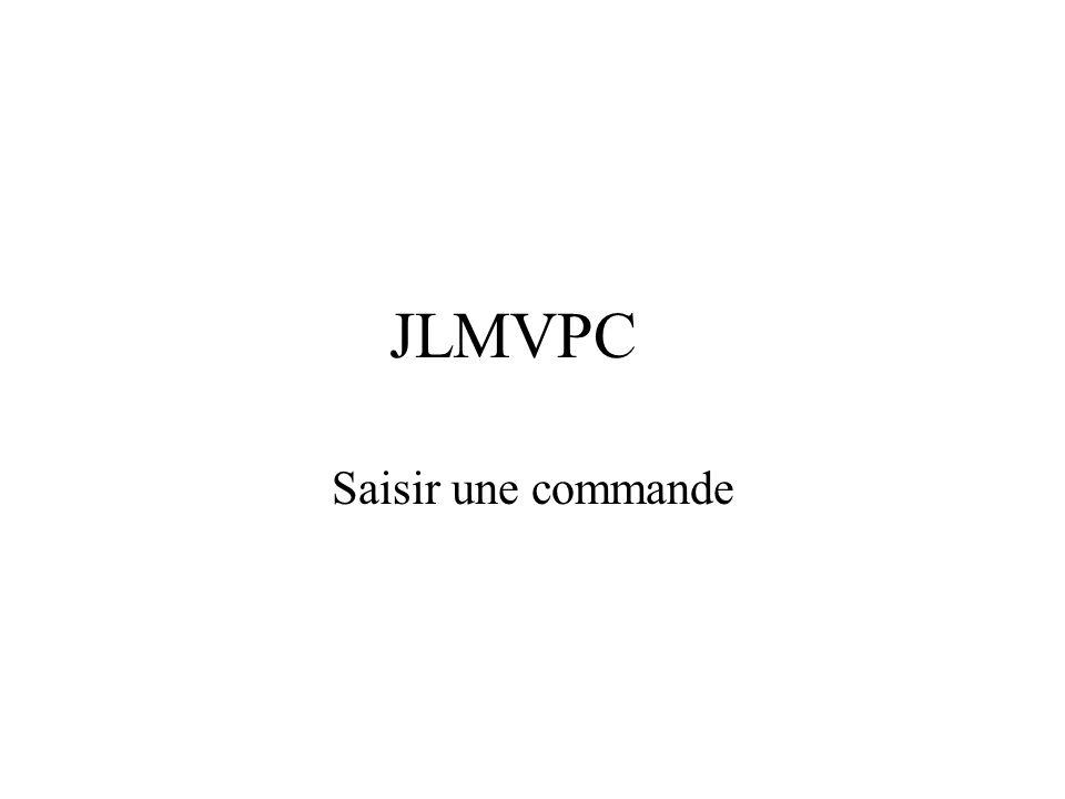 JLMVPC Saisir une commande
