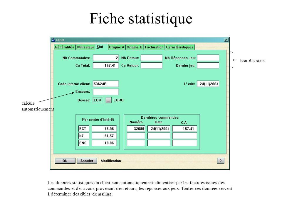 Fiche statistique issu des stats calculé automatiquement