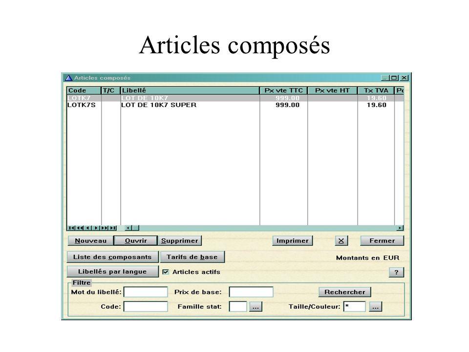 Articles composés