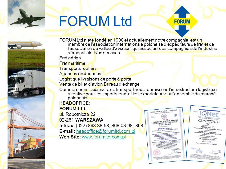 FORUM Ltd FORUM Ltd. ul. Robotnicza 22 02-261 WARSZAWA