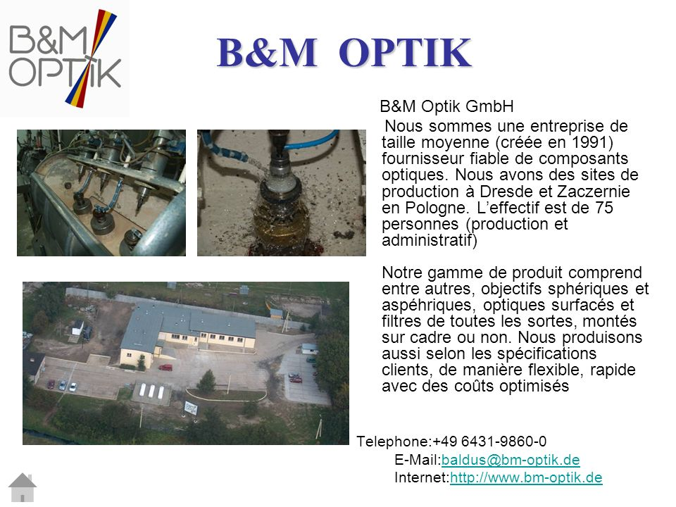B&M OPTIK B&M Optik GmbH