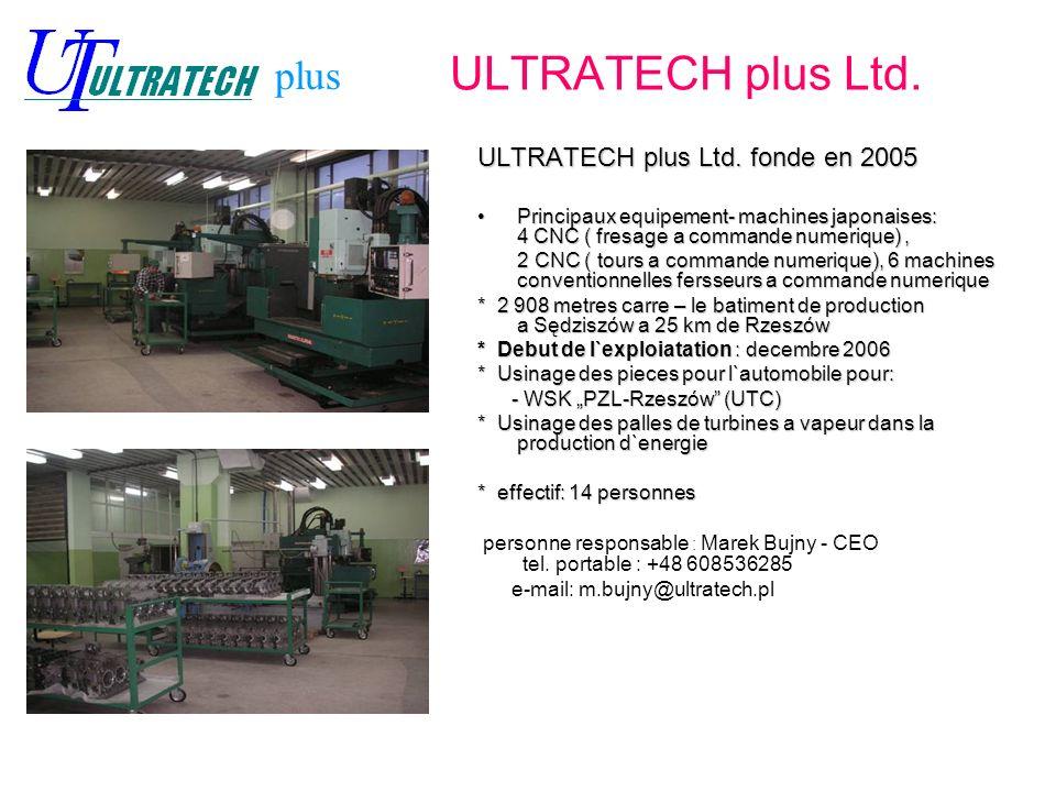 ULTRATECH plus Ltd. plus ULTRATECH plus Ltd. fonde en 2005
