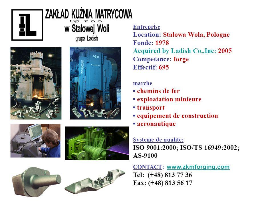 Location: Stalowa Wola, Pologne Fonde: 1978