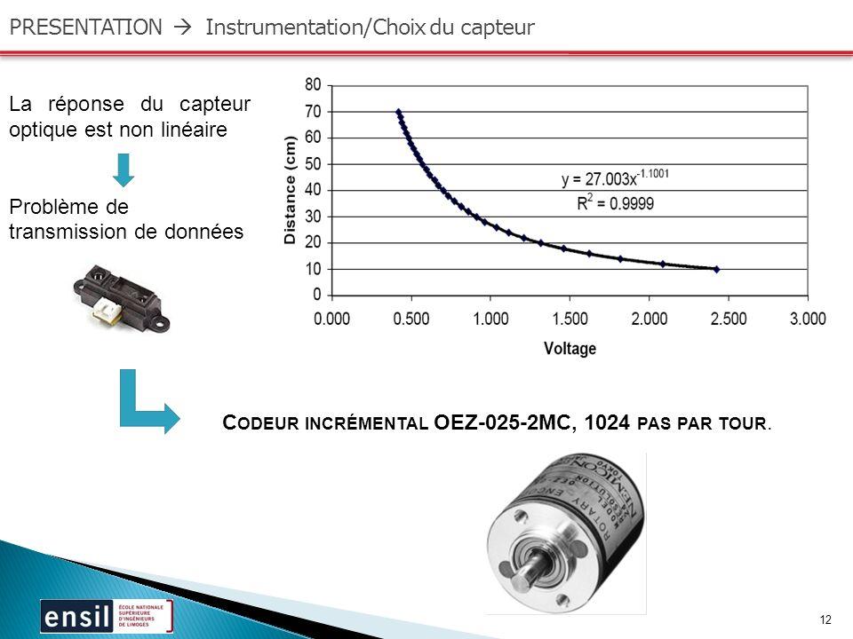 PRESENTATION  Instrumentation/Choix du capteur
