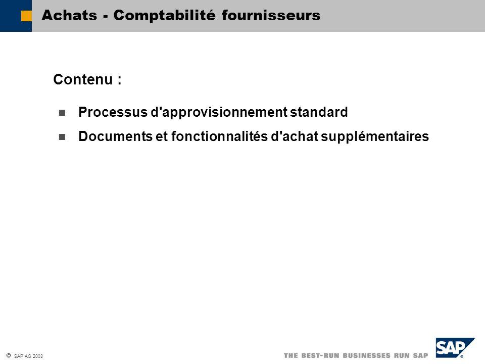 Achats - Comptabilité fournisseurs