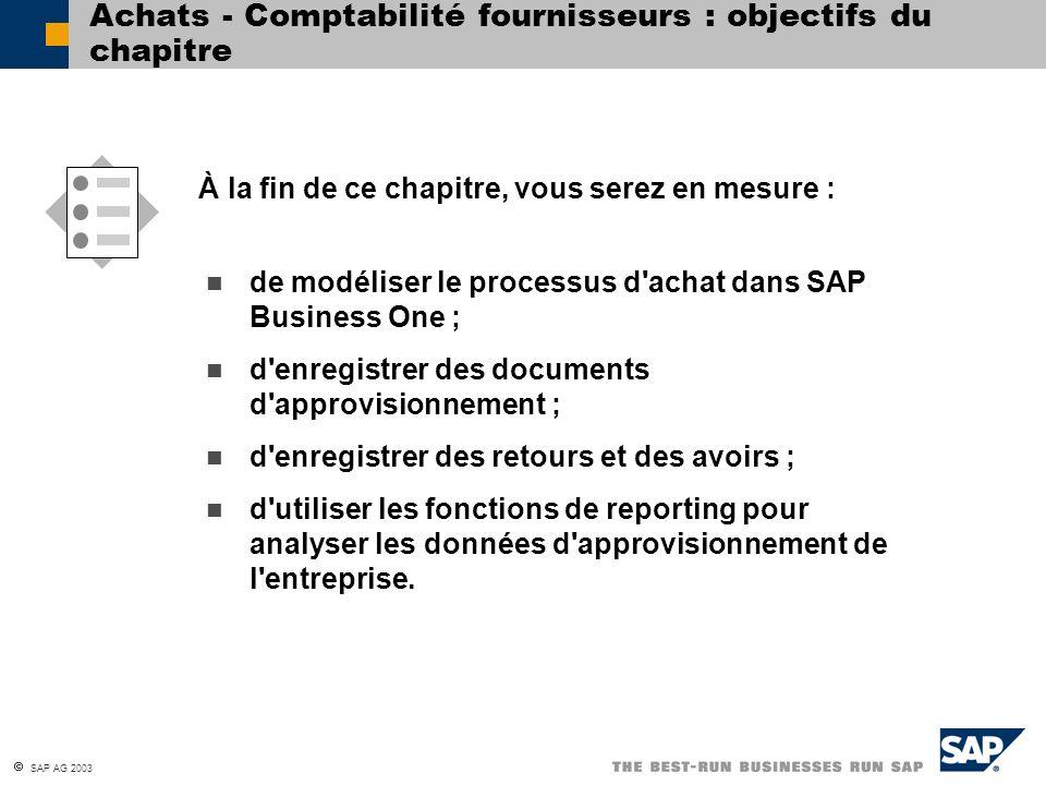Achats - Comptabilité fournisseurs : objectifs du chapitre