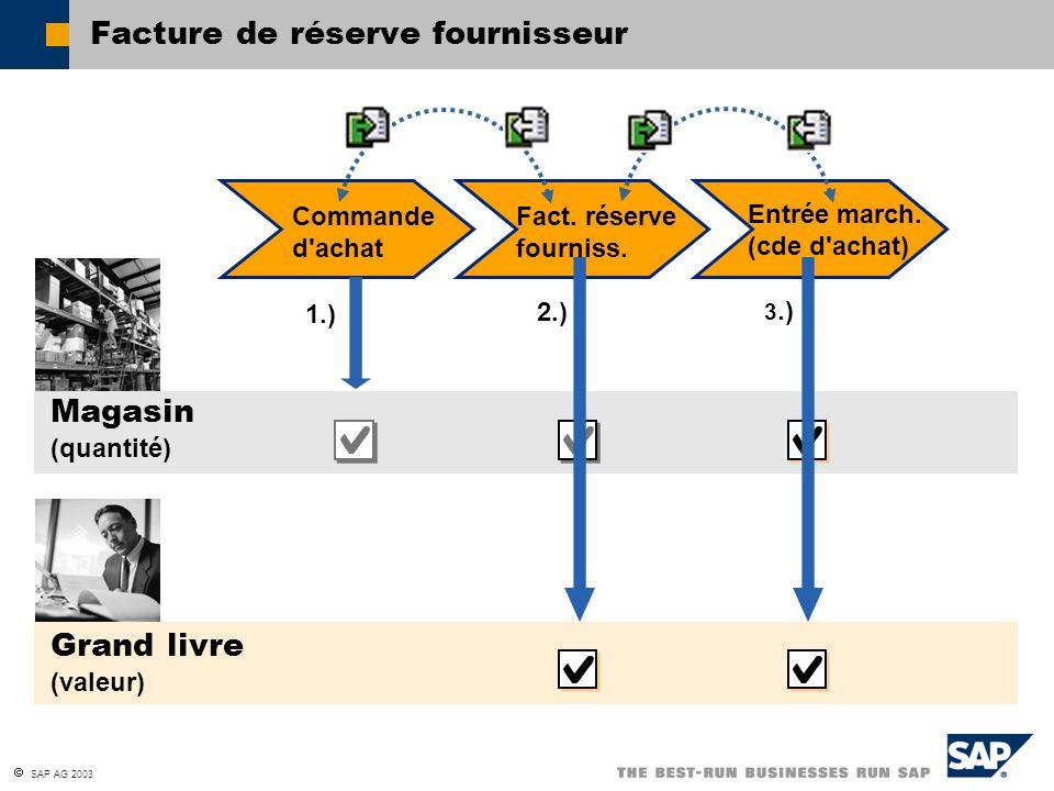 Facture de réserve fournisseur