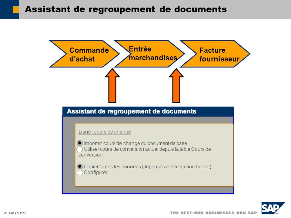 Assistant de regroupement de documents