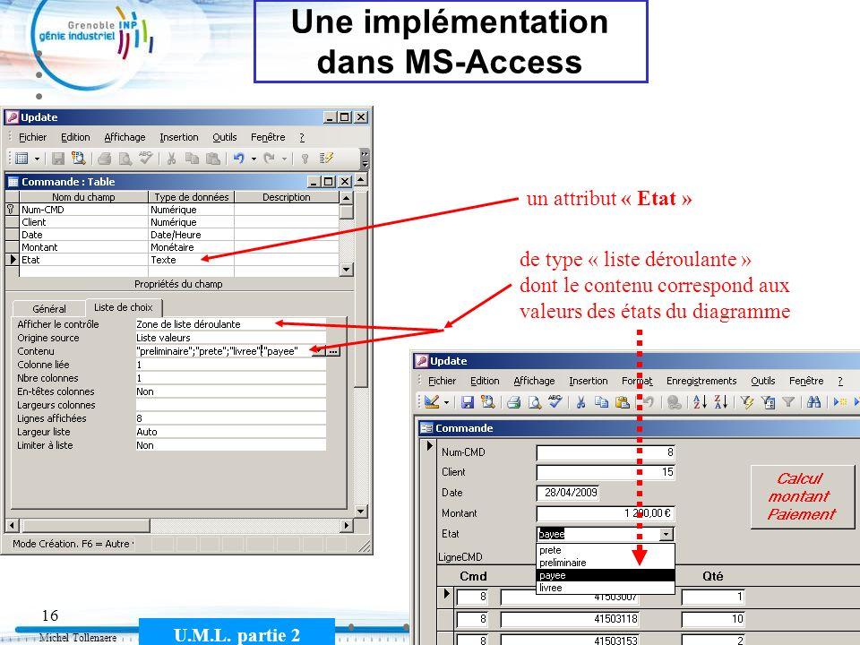 Une implémentation dans MS-Access