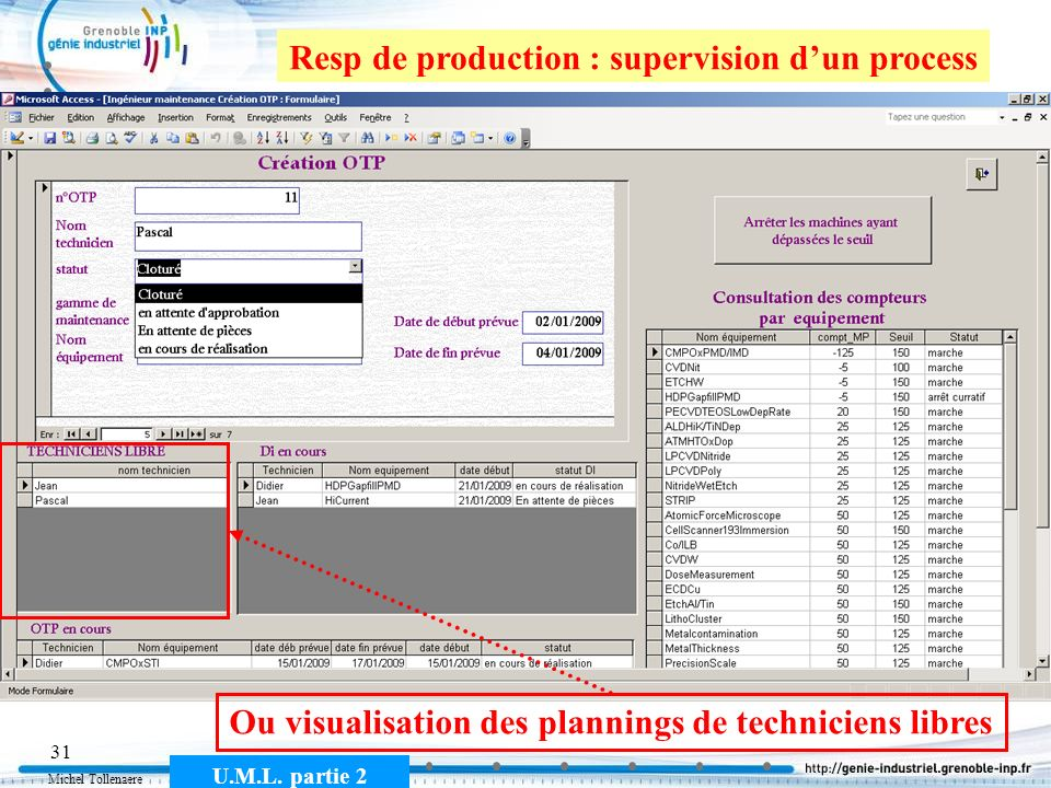 Resp de production : supervision d'un process