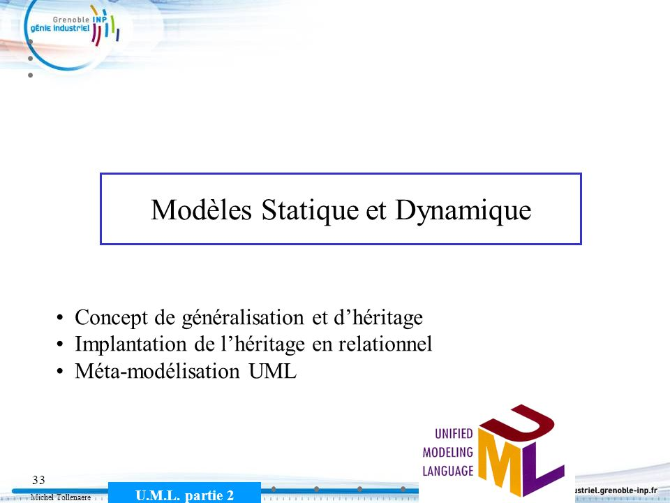Modèles Statique et Dynamique