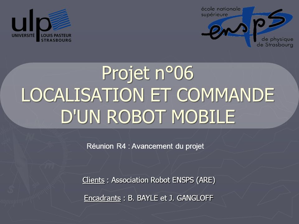 Projet n°06 LOCALISATION ET COMMANDE D UN ROBOT MOBILE