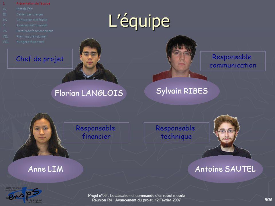 L'équipe Florian LANGLOIS Sylvain RIBES Anne LIM Antoine SAUTEL