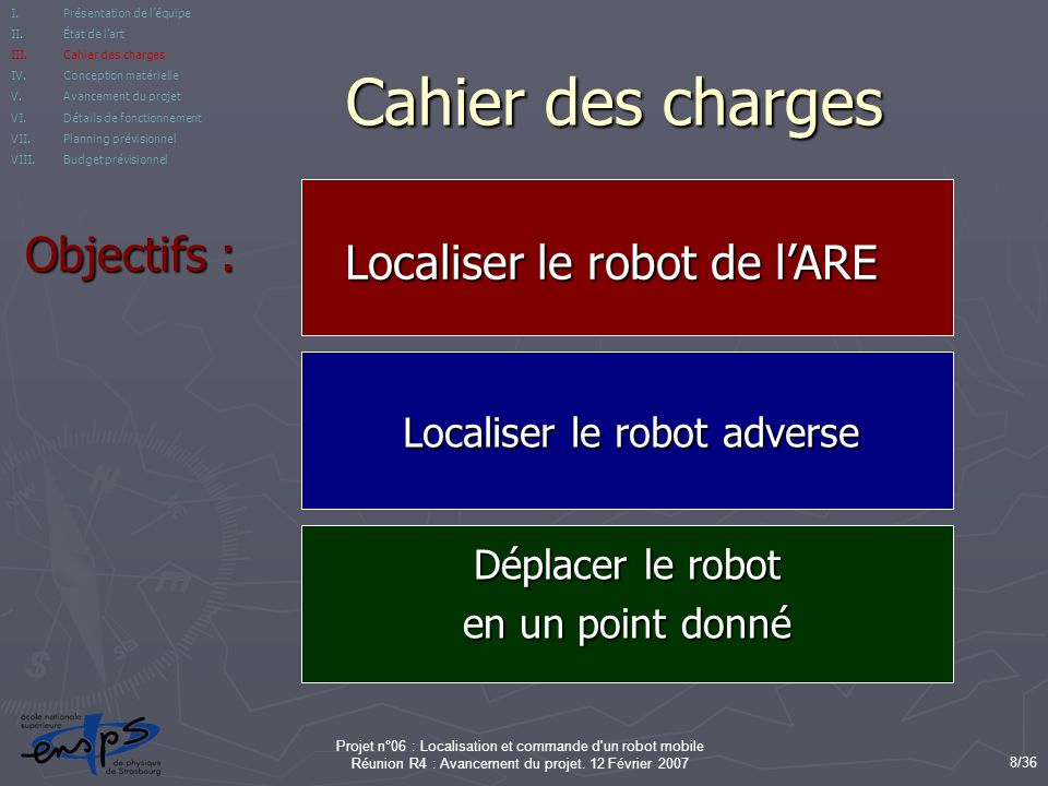 Localiser le robot adverse