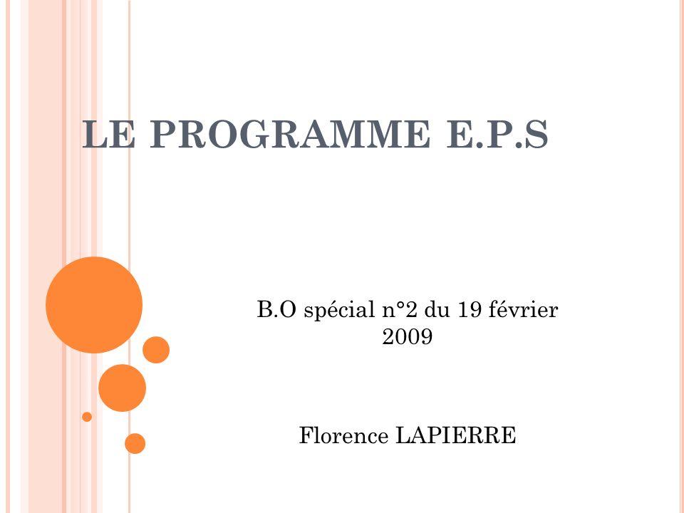 B.O spécial n°2 du 19 février 2009 Florence LAPIERRE