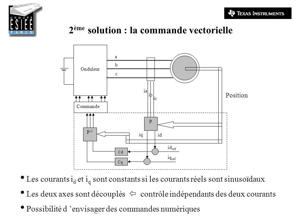 2ème solution : la commande vectorielle
