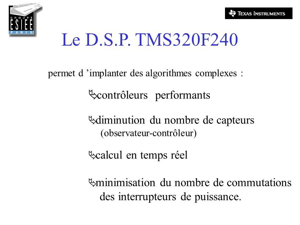 Le D.S.P. TMS320F240 contrôleurs performants