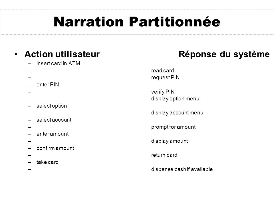 Narration Partitionnée