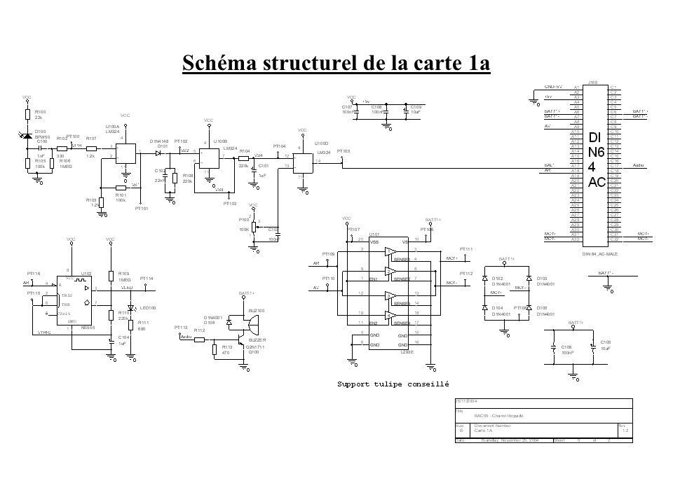 Schéma structurel de la carte 1a