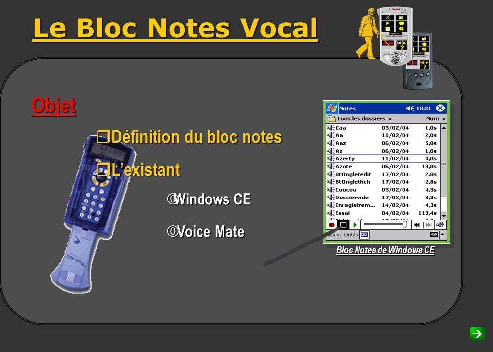 Bloc Notes de Windows CE