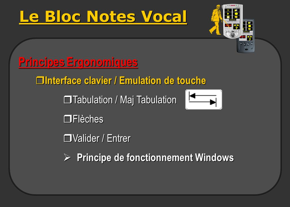 Le Bloc Notes Vocal Principes Ergonomiques