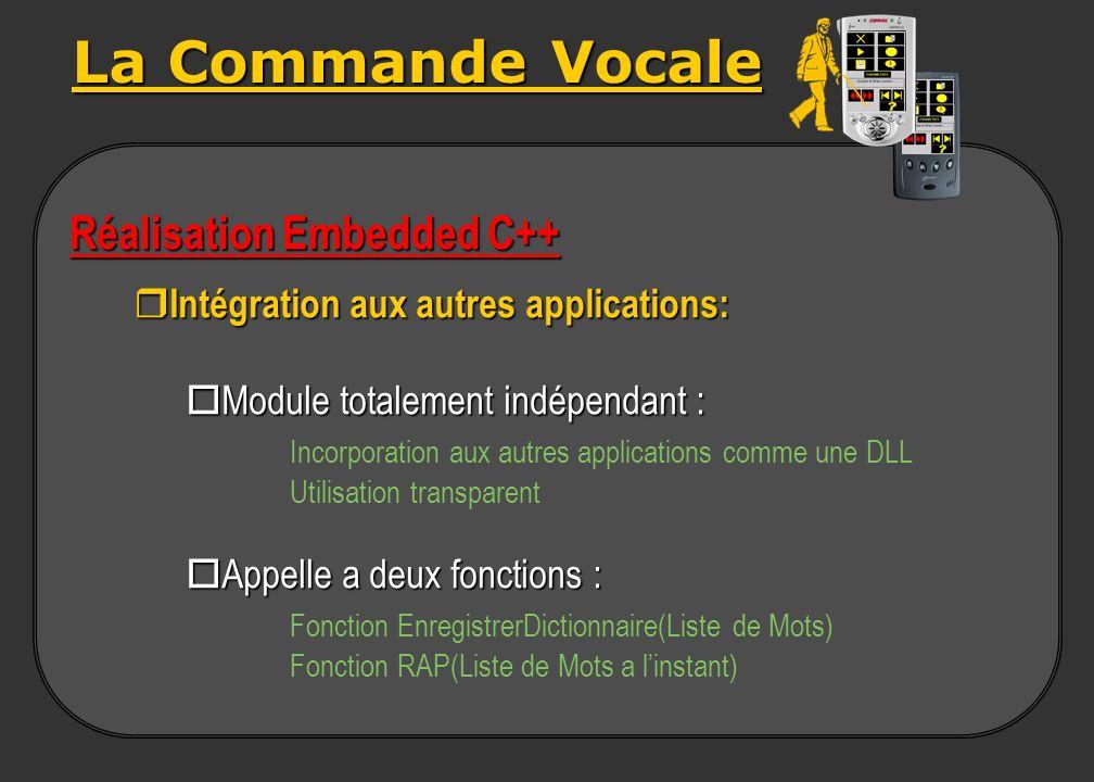La Commande Vocale Réalisation Embedded C++