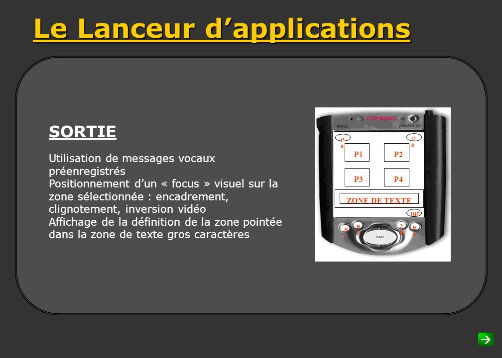 Le Lanceur d'applications