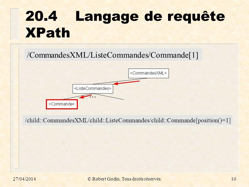 20.4 Langage de requête XPath