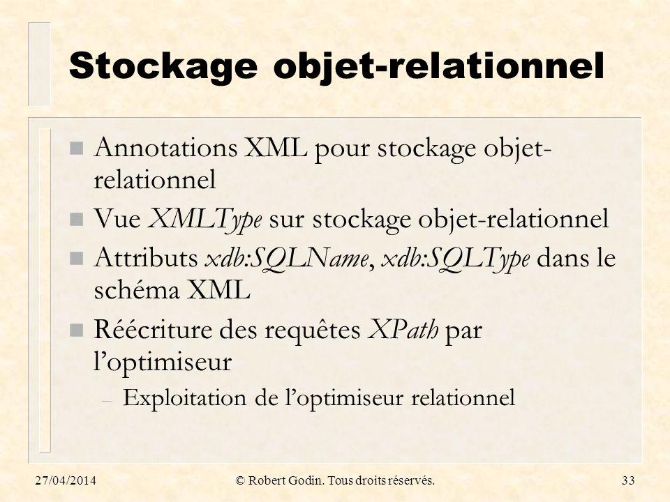Stockage objet-relationnel