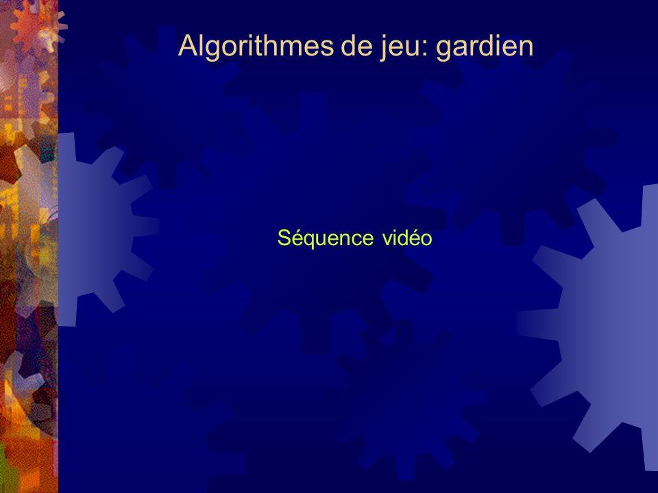 Algorithmes de jeu: gardien