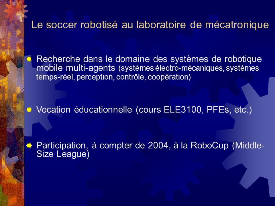 Le soccer robotisé au laboratoire de mécatronique