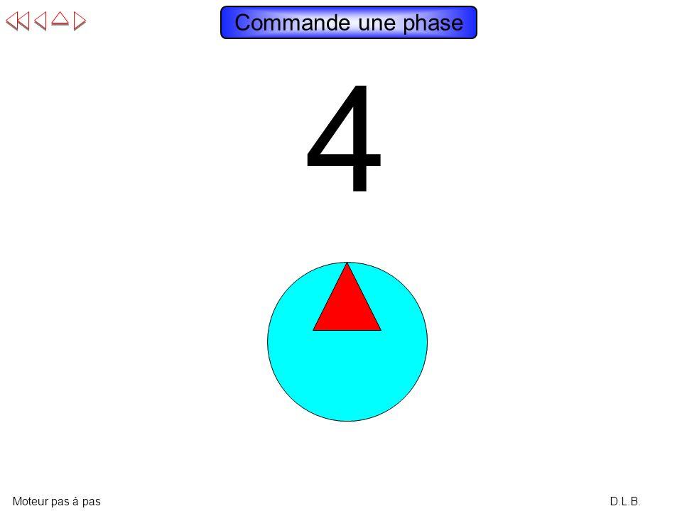 Commande une phase 4 3 2 1 Moteur pas à pas D.L.B.