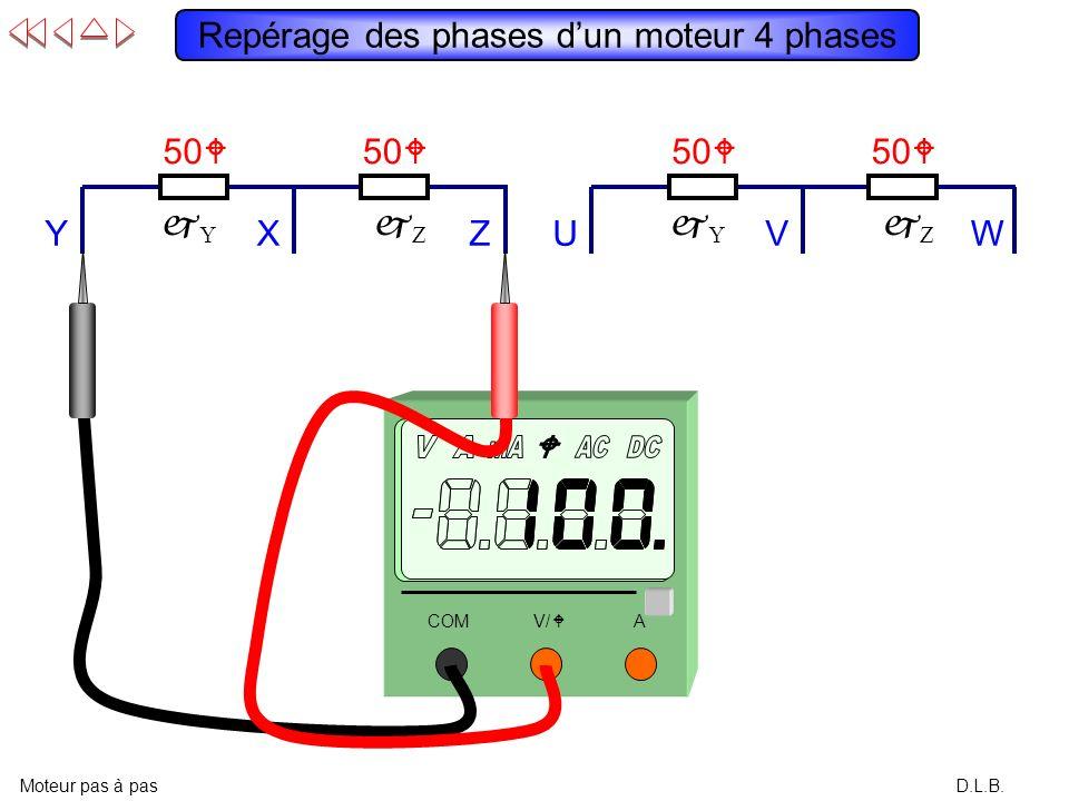 Repérage des phases d'un moteur 4 phases