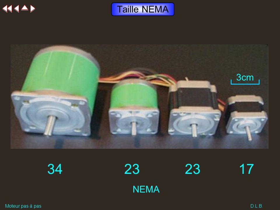 Taille NEMA 34 23 23 17 3cm NEMA Moteur pas à pas D.L.B.