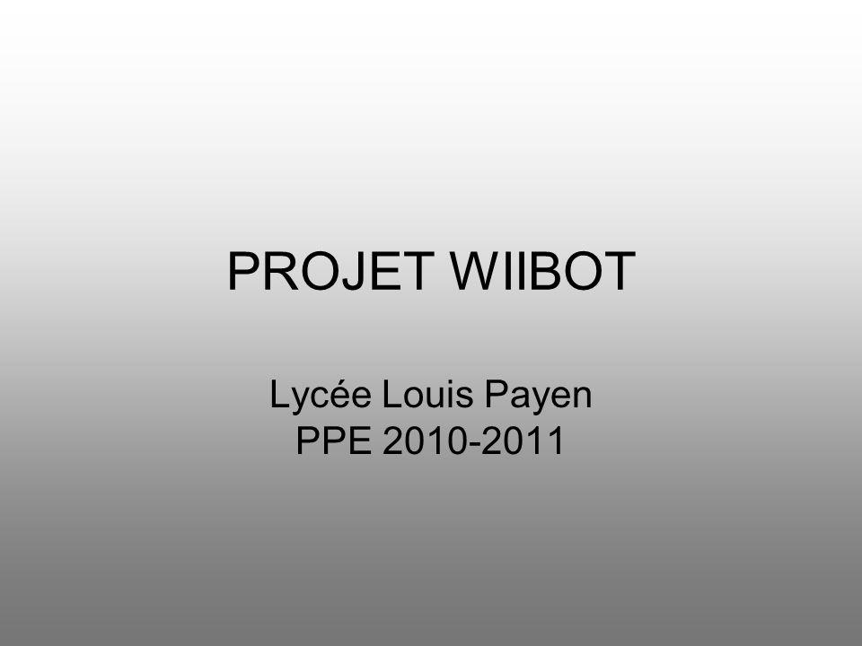 PROJET WIIBOT Lycée Louis Payen PPE 2010-2011