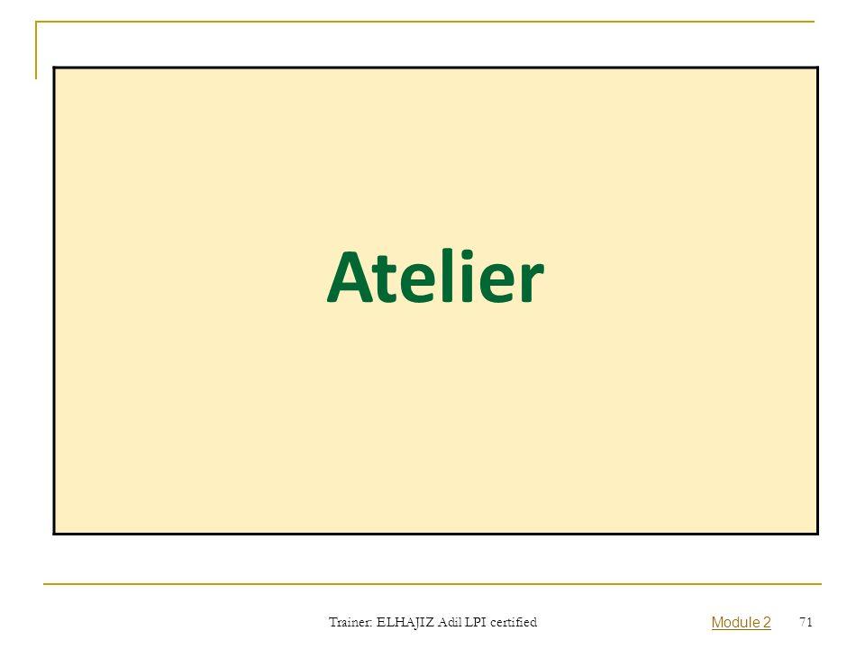 Trainer: ELHAJIZ Adil LPI certified