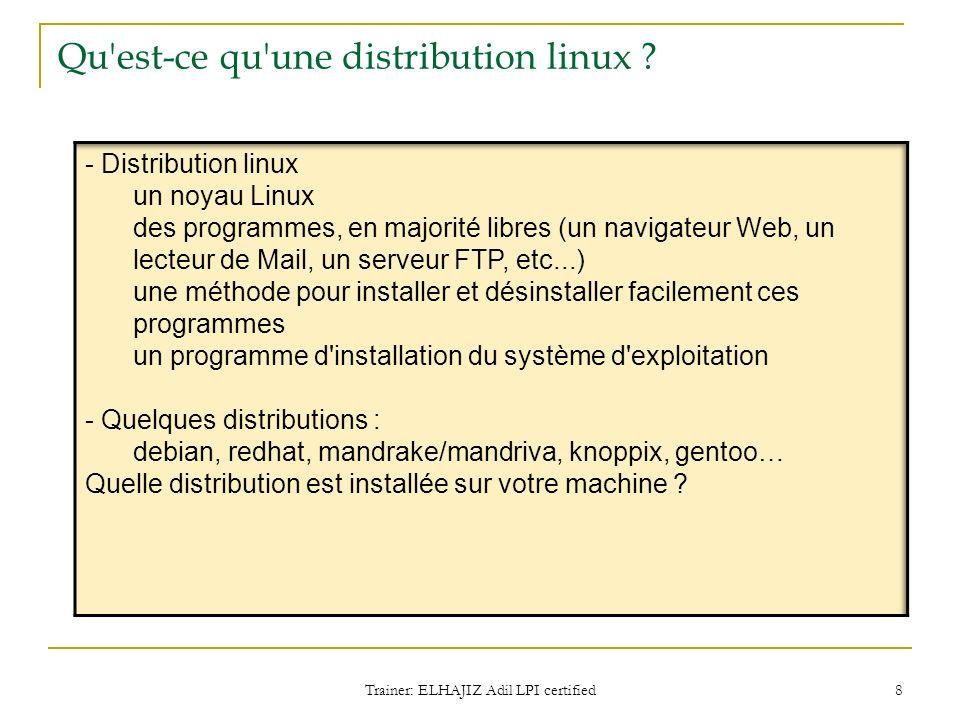 Qu est-ce qu une distribution linux