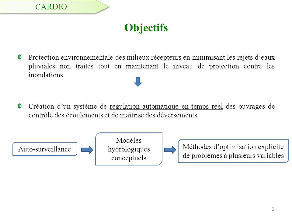 CARDIO Objectifs.