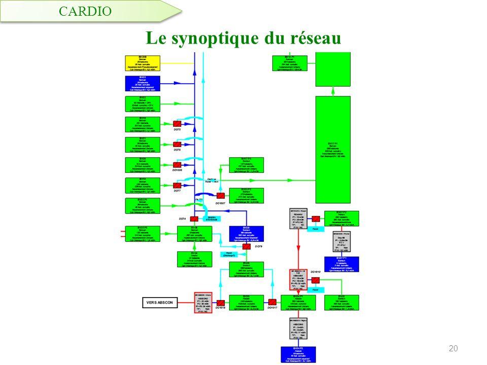 Le synoptique du réseau