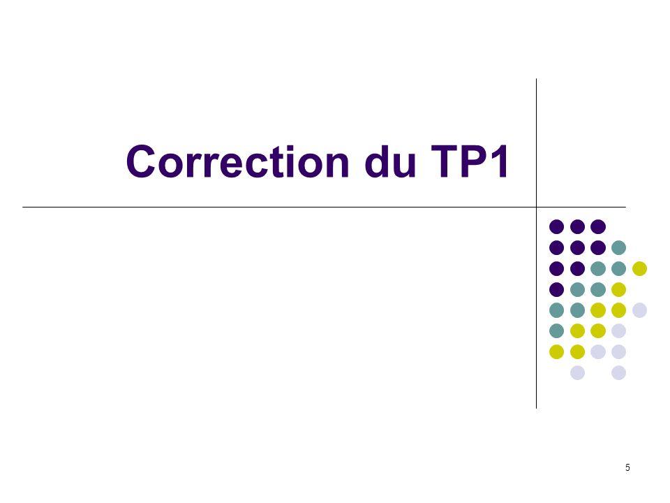 Correction du TP1