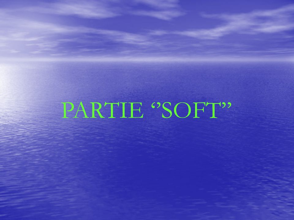 PARTIE ''SOFT''