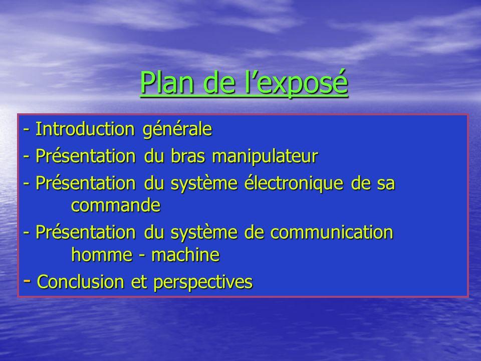 Plan de l'exposé - Introduction générale
