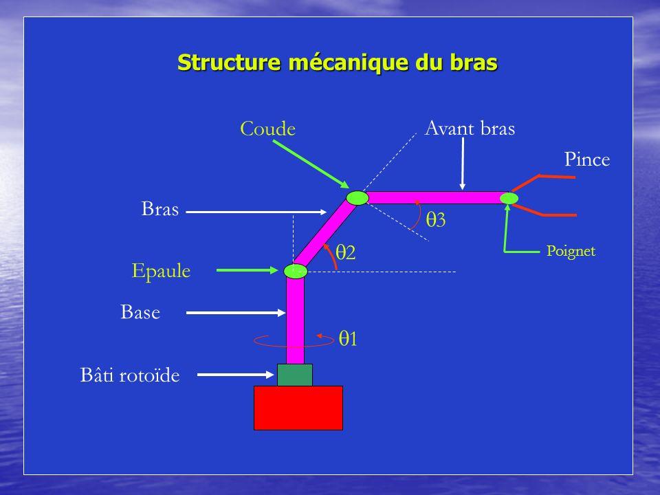Structure mécanique du bras